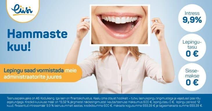 Liisi hammastekuu soodustus