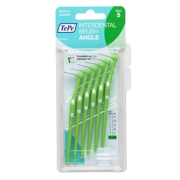 TePe ANGEL ergonoomilise käepidemega interdentaalharjad rohelised pakend pilt